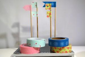 banderas con washi tape