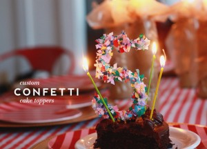 decorar tartas con confeti