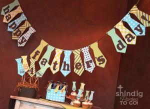 fiesta del dia del padre - guirnalda corbatas