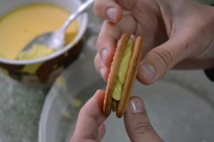 torrijas de galleta - montaje 2
